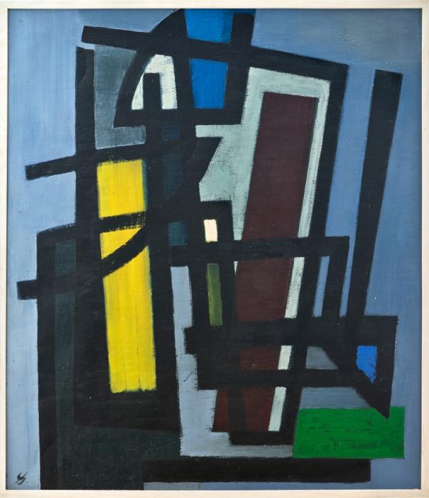 Heinrich Siepmann - Komposition, 1951 | Öl auf Leinwand, 87 x 75 cm | © VG Bild-Kunst, Bonn 2019