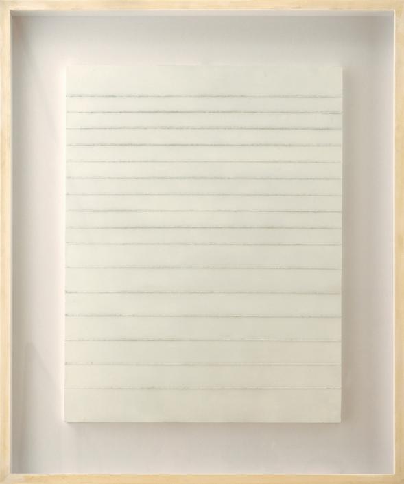 Leo Erb - Linienbild, 1970 | Schnüre, Acryl auf Holzplatte, 64 x 50 cm | Dauerleihgabe aus Privatbesitz | © VG Bild-Kunst, Bonn 2019