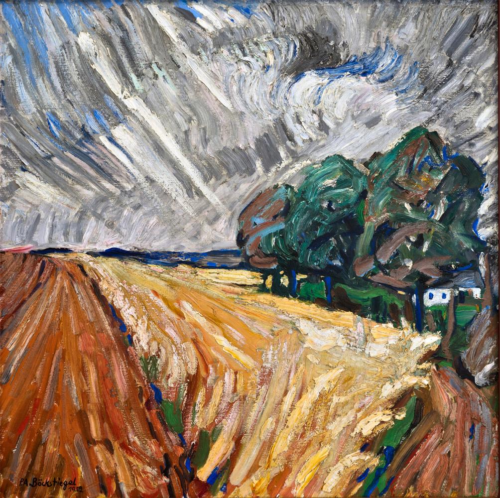 Peter August Böckstiegel - Nach dem Regen, 1912 | Öl auf Leinwand, 77,5 x 77,7 cm | © VG Bild-Kunst, Bonn 2019