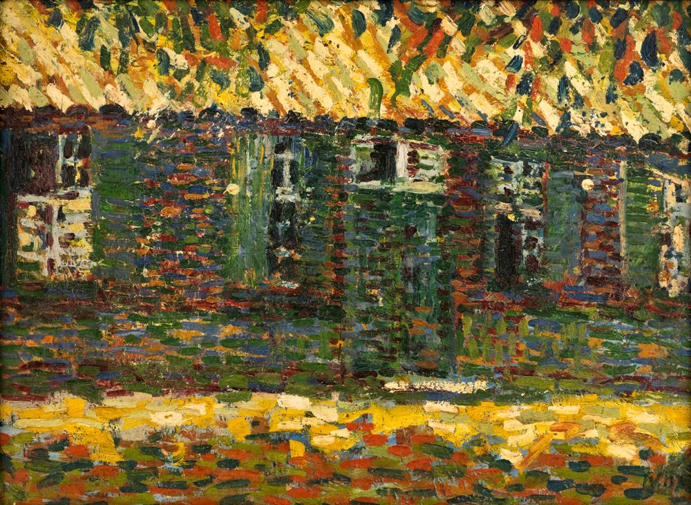 Wilhelm Wieger - Atelierhaus Moerser Landstraße, 1907 | Öl auf Leinwand auf Pappe | 38,5 x 52,5 cm