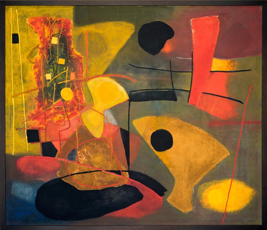 Fritz Winter - Große Komposition II, 1938 | Öl auf Leinwand | 141 x 163 cm | Leihgabe der Bundesrepublik Deutschland, Sammlung