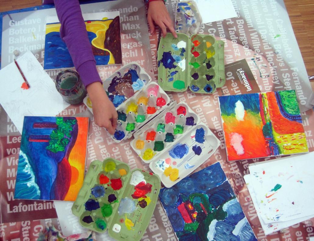 Programm für Kinder Kusntmuseum Ahlen - Malschule