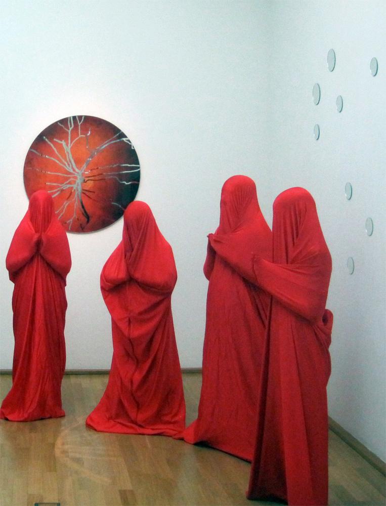 Kunstklasse bei Ausstellung 'Andreas Horlitz'
